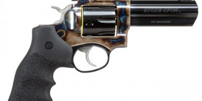 Photo of a Ruger GP100 with color case hardened frame by Turnbull Restoration