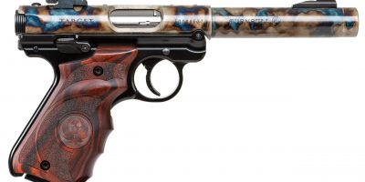 Photo of a Ruger Mark IV with color case hardened barrel by Turnbull Restoration