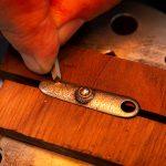 Photo of a Francotte Belgian 12 gauge side by side shotgun in restoration process performed by Turnbull Restoration