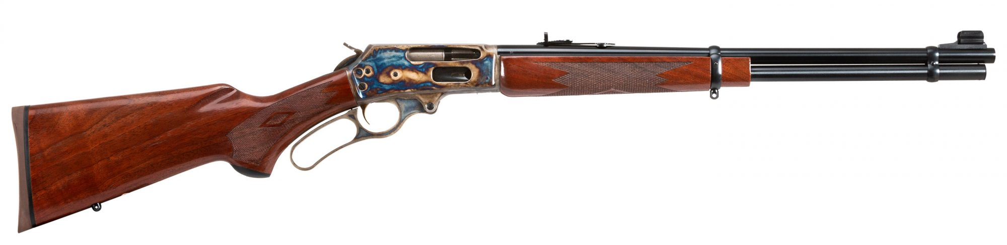 Photo of a Turnbull Finished Marlin 336C featuring bone charcoal color case hardening