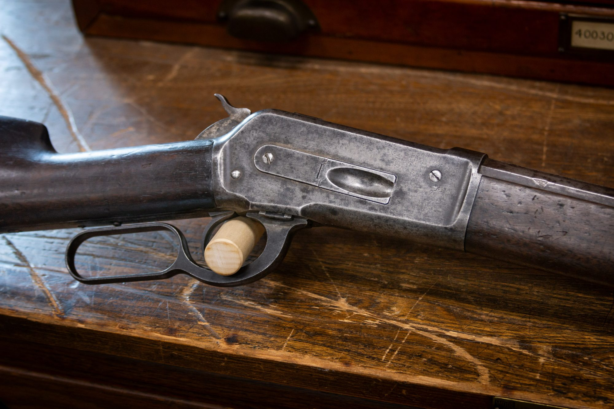 Photo of an antique Winchester Model 1886 from 1890, as sold by Turnbull Restoration in Bloomfield, NY