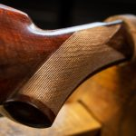 Photo of a Winchester Model 1876 from 1882, during restoration by Turnbull Restoration of Bloomfield NY
