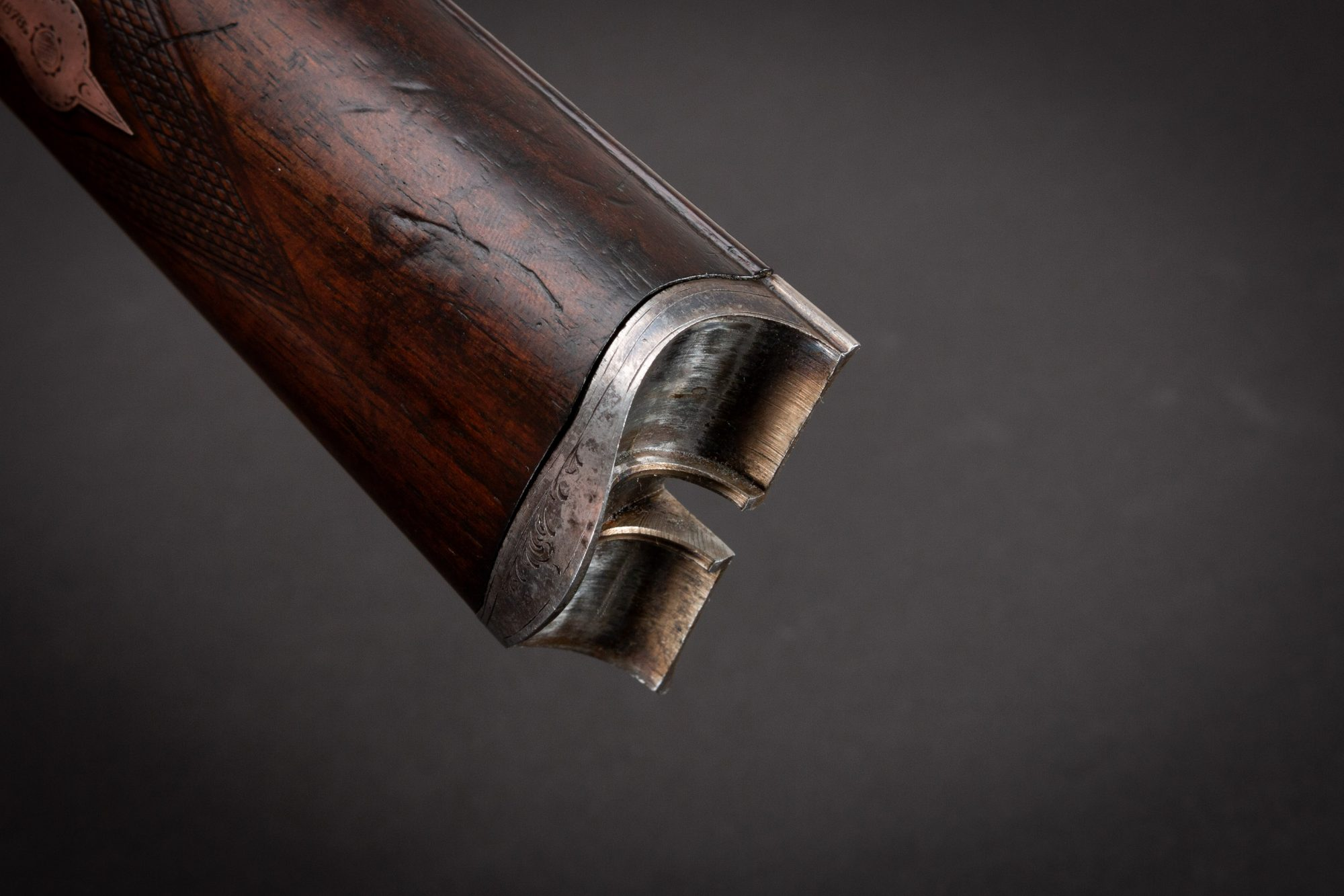 Photo of an antique Parker PH 10 gauge side-by-side shotgun from 1890. For sale as-is by Turnbull Restoration of Bloomfield, NY