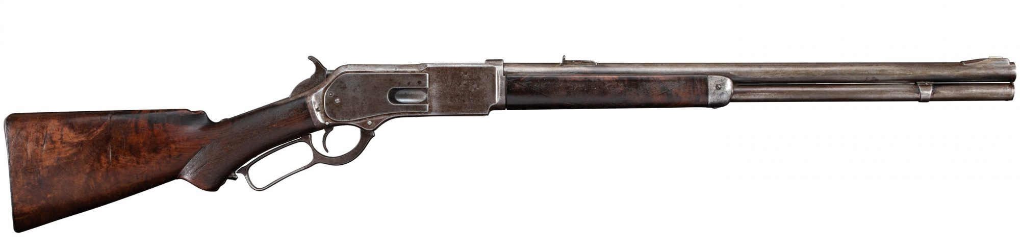 Photo of a Winchester Model 1876 from 1882, before restoration by Turnbull Restoration of Bloomfield NY