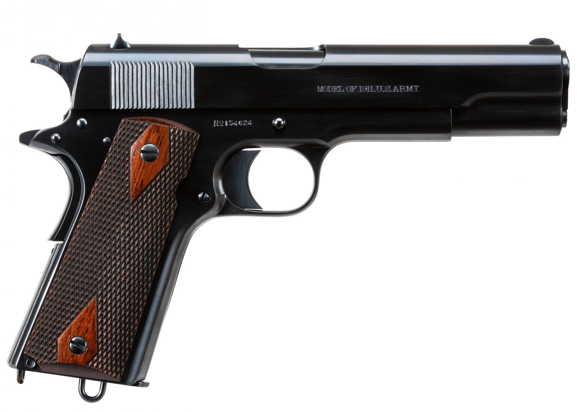 Photo of a restored Colt 1911 U.S. Army, restored by Turnbull Restoration of Bloomfield, NY