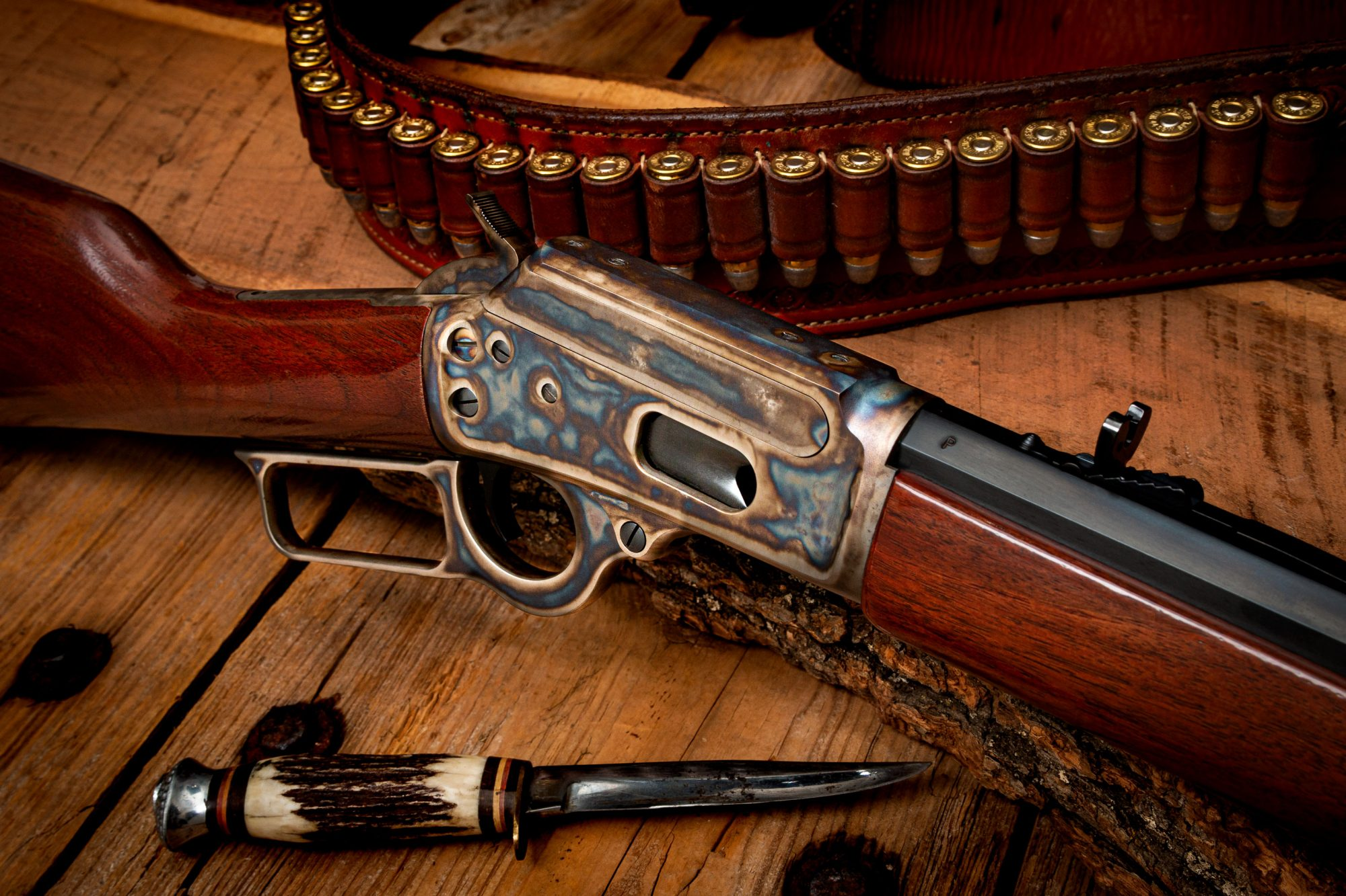 Photo of a Turnbull Finished Marlin 1894CB, featuring restoration grade metal and wood finishes by Turnbull Restoration of Bloomfield, NY