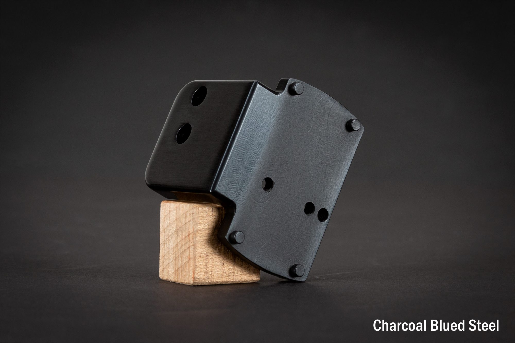 Photo of a Turnbull Restoration FastFire mount in charcoal blued steel