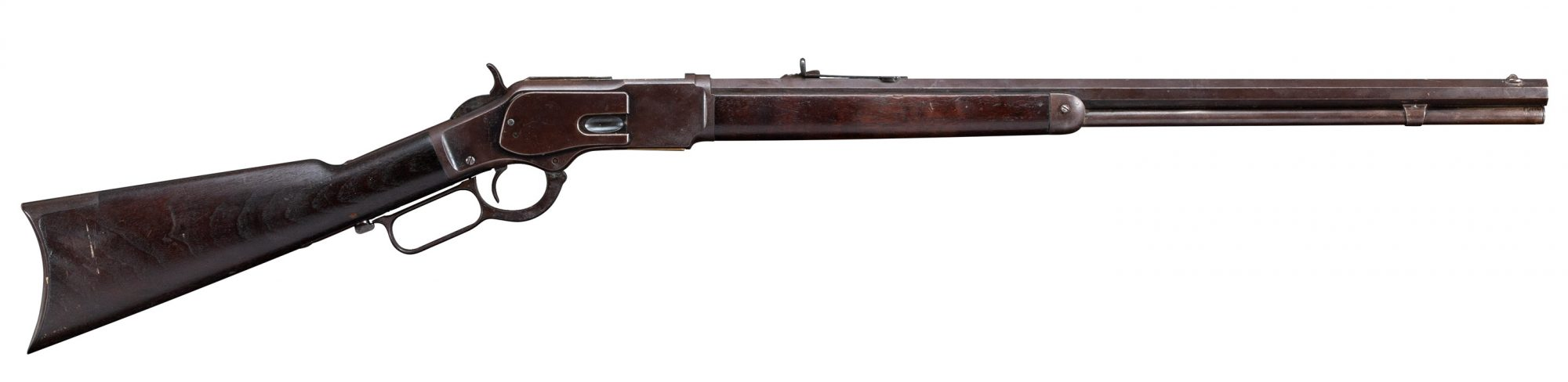 Photo of a Winchester Model 1873 from 1905, before restoration by Turnbull Restoration of Bloomfield, NY