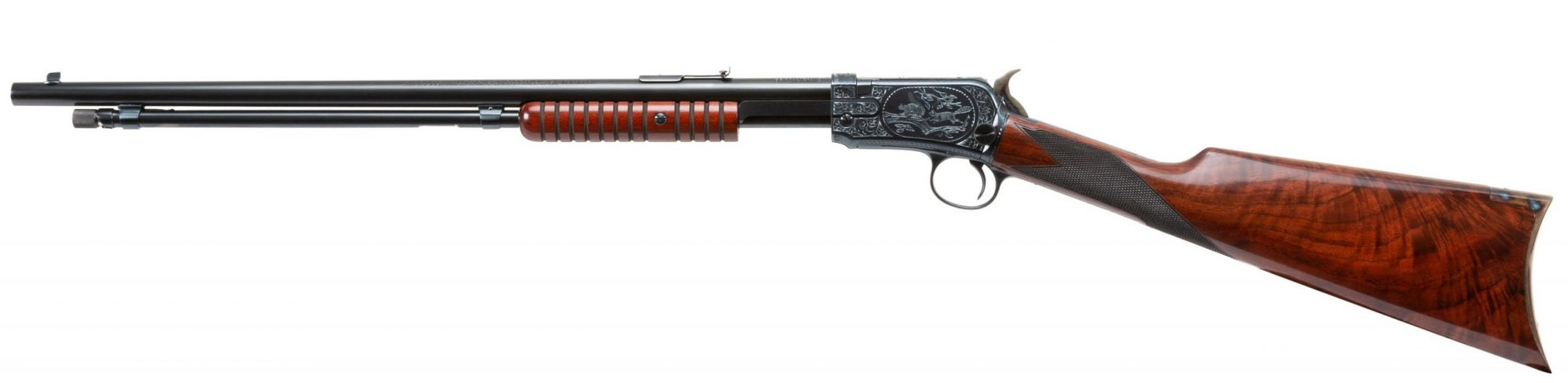 Photo of a restored engraved Winchester Model 1906 rifle by Turnbull Restoration of Bloomfield, NY