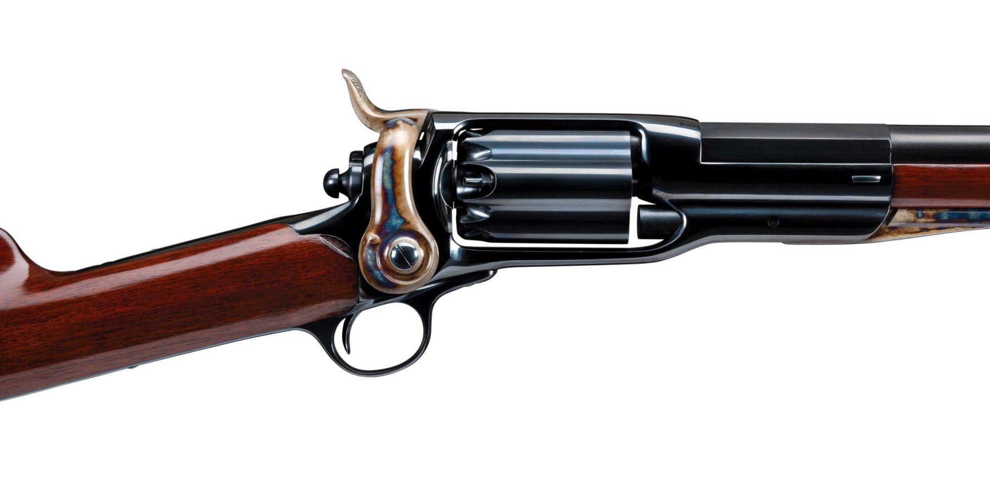 Photo of a rare Colt Model 1855 revolving 20 gauge shotgun after restoration by Turnbull Restoration of Bloomfield, NY
