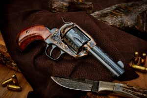 Photo of a Ruger New Vaquero, finished and customized by Turnbull Restoration