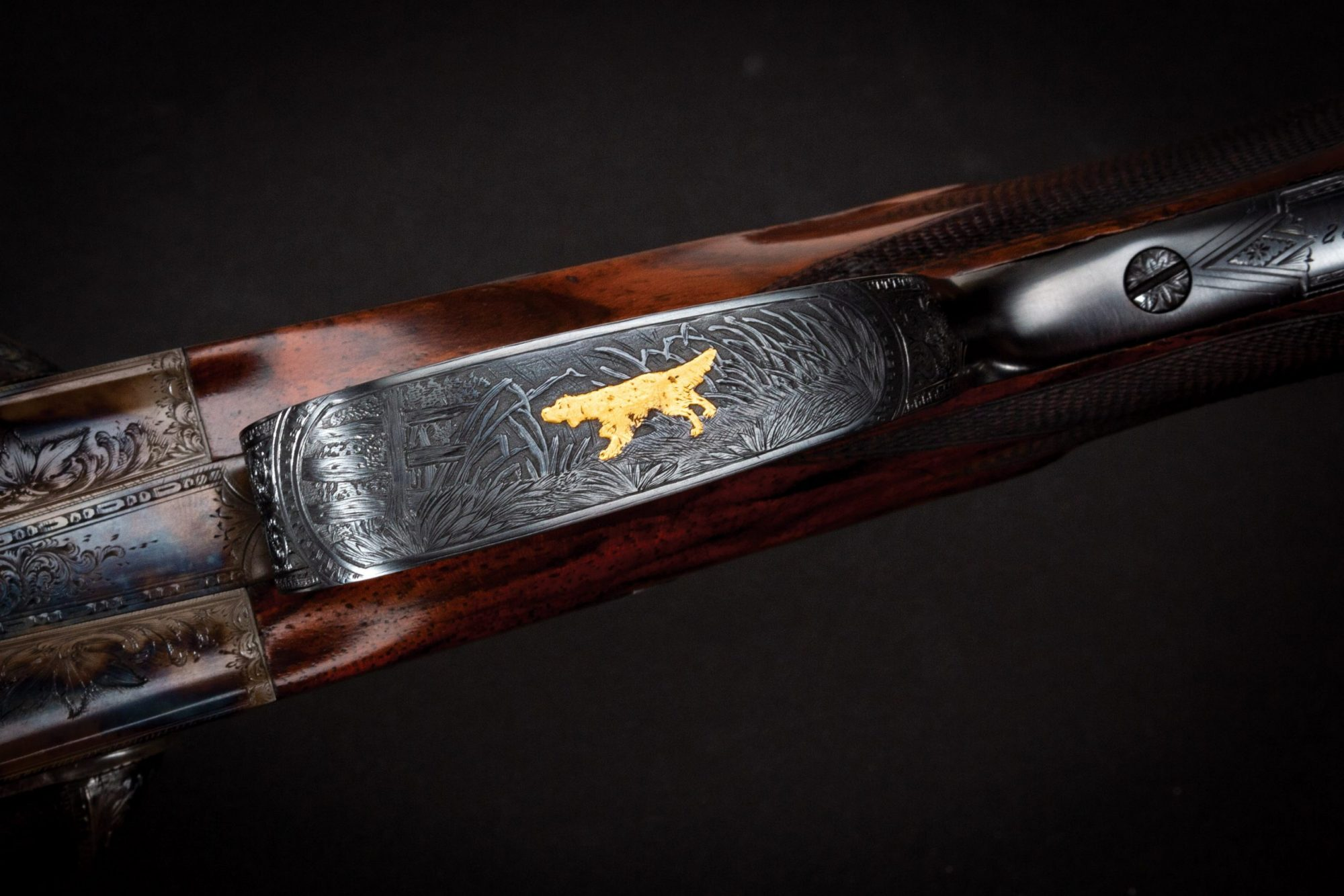 Photo of a restored L.C. Smith 10 gauge shotgun, by Turnbull Restoration of Bloomfield, NY