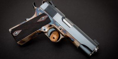 Turnbull Commander Heritage Model 1911 with color case hardened frame and charcoal blued slide