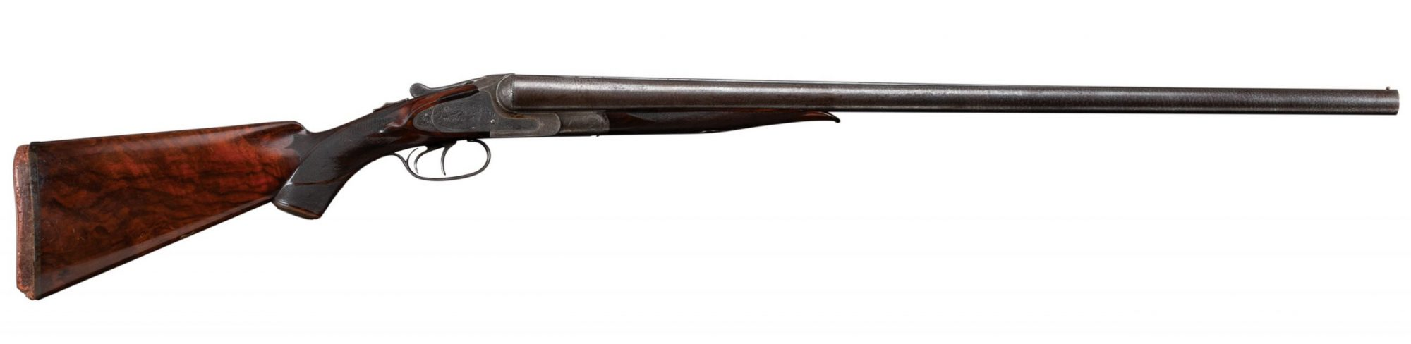 Photo of an L.C. Smith 10 gauge shotgun before restoration, by Turnbull Restoration of Bloomfield, NY