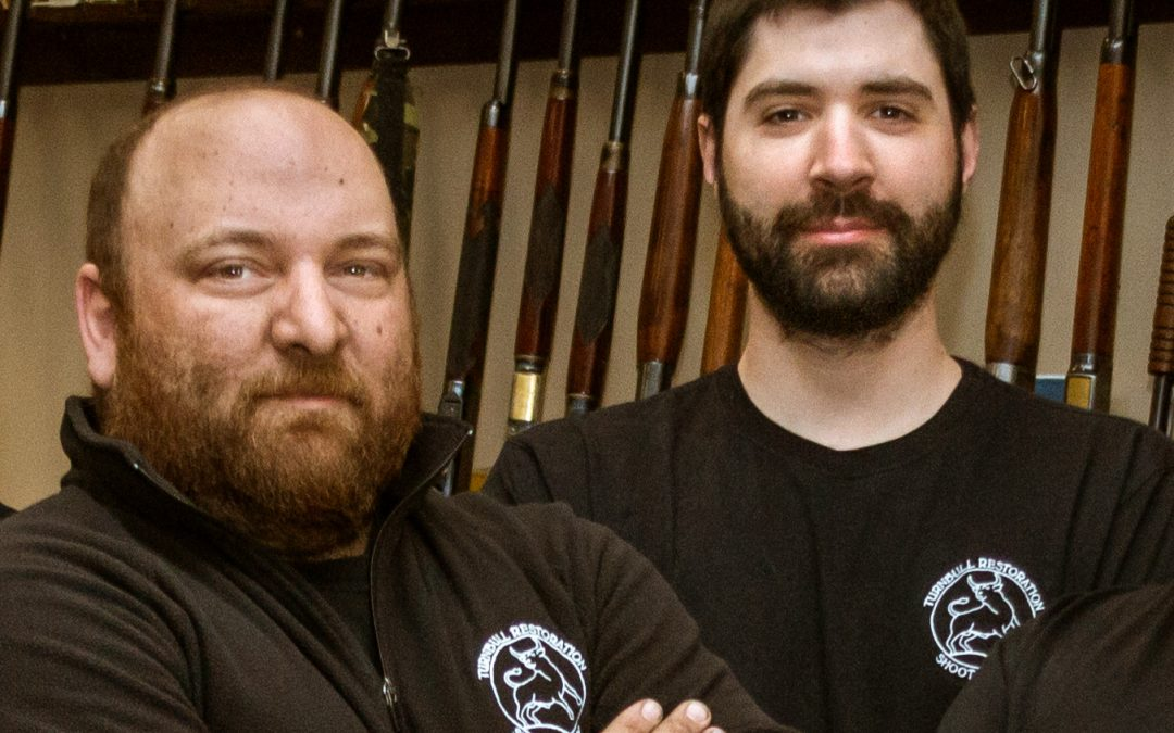 Photo of Turnbull Restoration gunsmiths Sam Chappell and Jacob Schuler