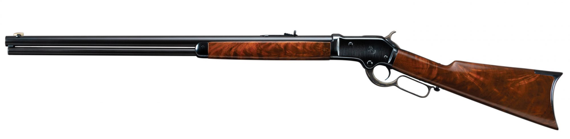 Photo of a restored Colt 1883 Burgess rifle, featuring all period-correct metal finishes by Turnbull Restoration of Bloomfield, NY