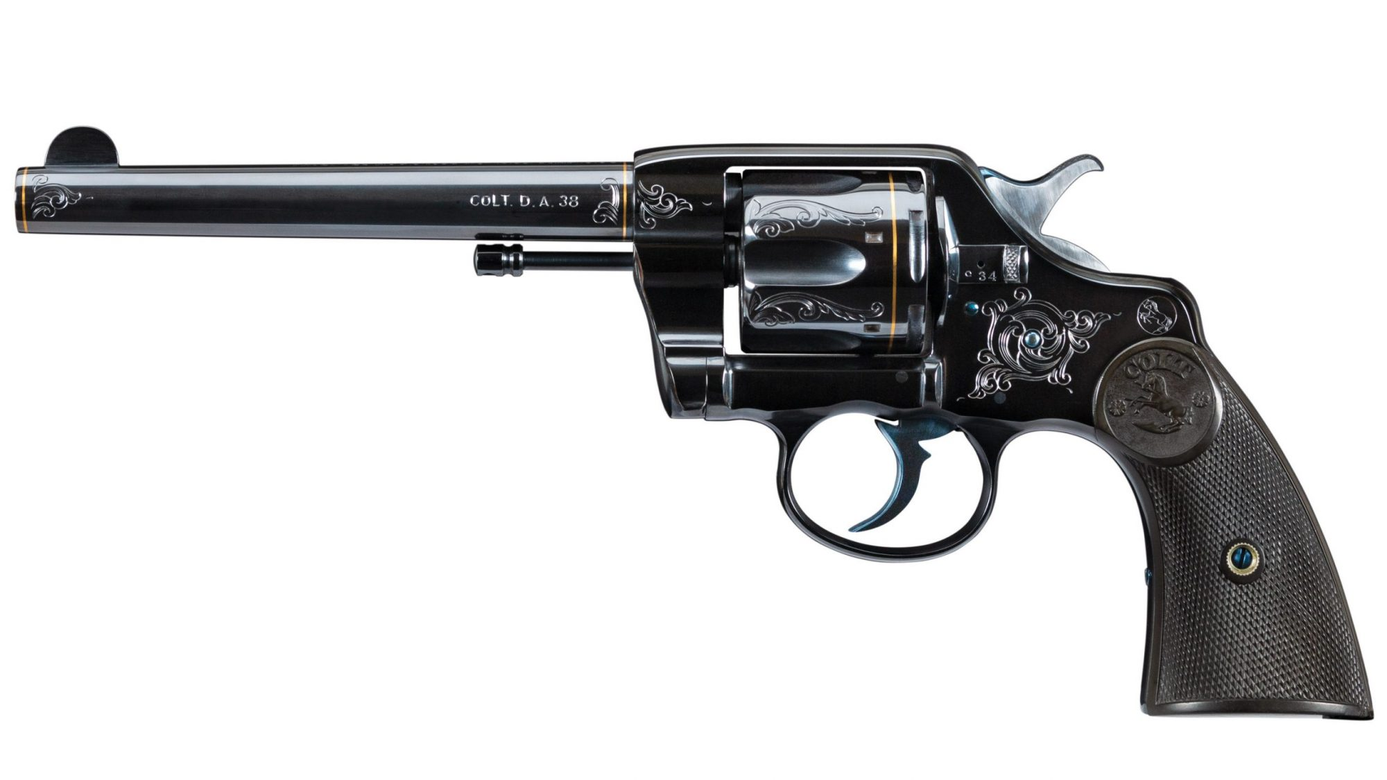 Photo of a restored Colt Model 1892 DA38, as restored by Turnbull Restoration of Bloomfield, NY