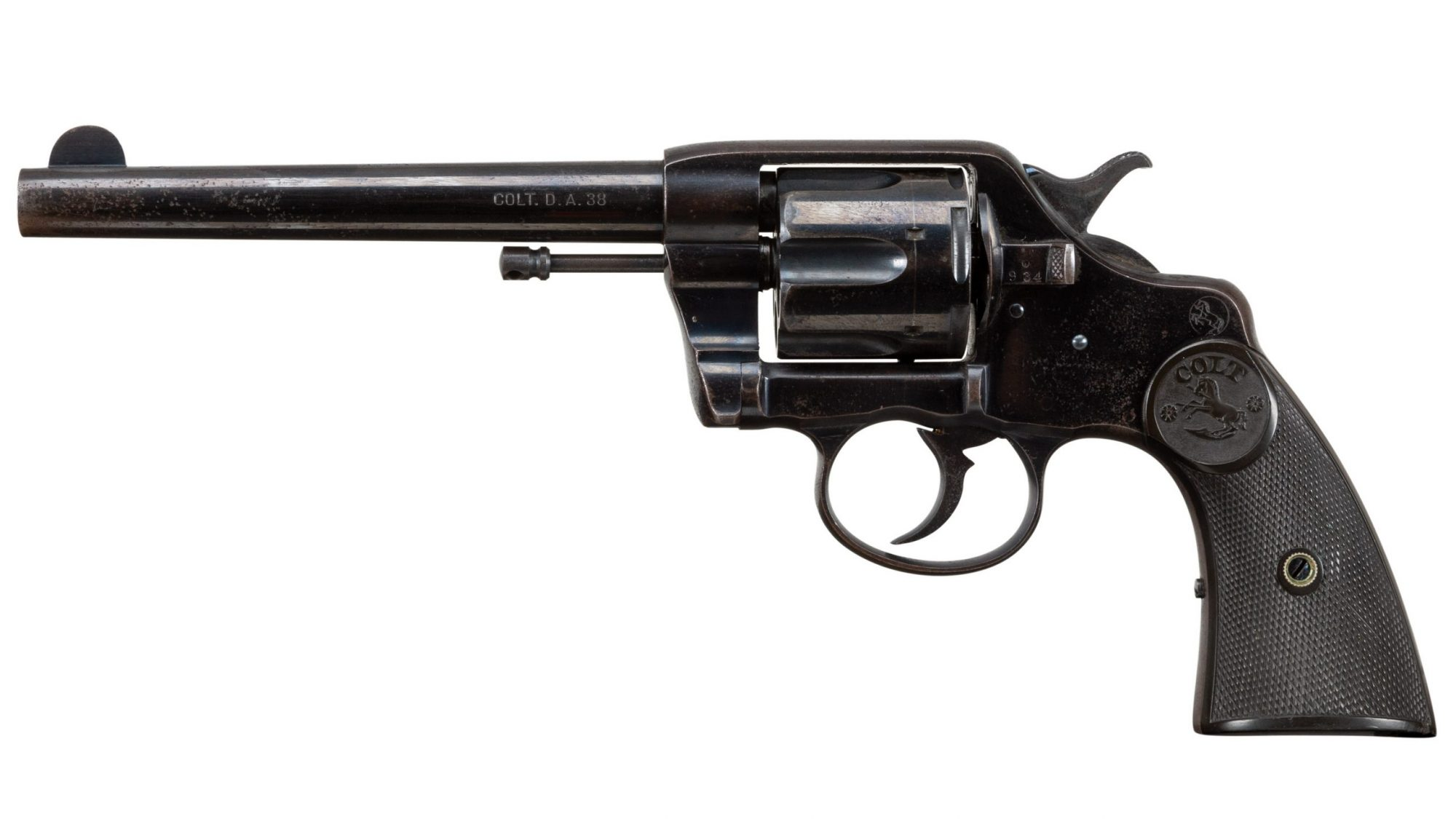 Photo of a Colt Model 1892 DA38, before restoration by Turnbull Restoration of Bloomfield, NY