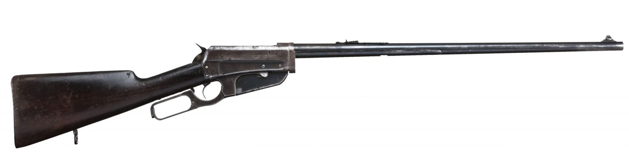 Photo of a Winchester Model 1895, chambered in .405 Winchester, originally built in 1910, before restoration by Turnbull Restoration of Bloomfield, NY