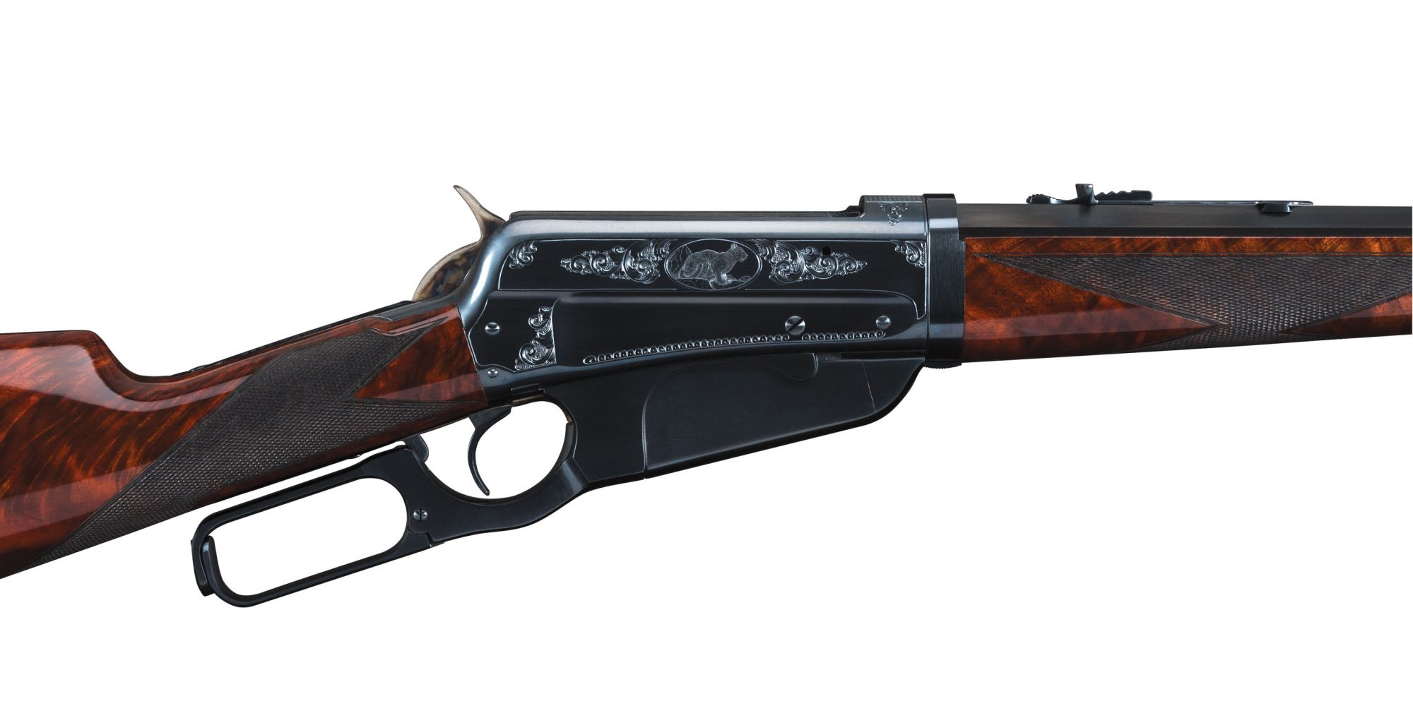 Photo of a Turnbull-restored Winchester Model 1895, chambered in .405 Winchester, originally built in 1910