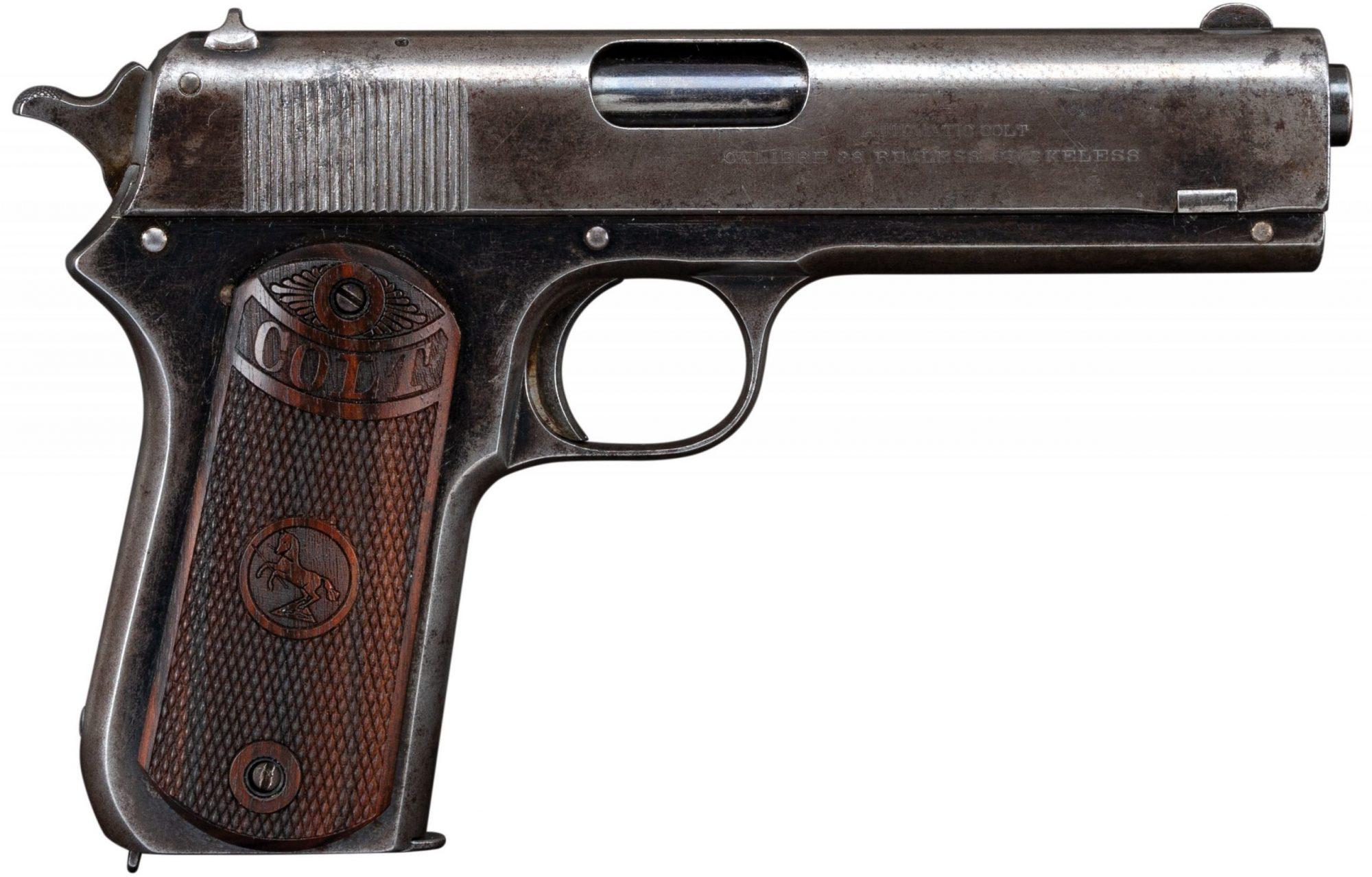 Photo of a Colt Model 1903 Pocket Hammer before restoration by Turnbull Restoration of Bloomfield, NY