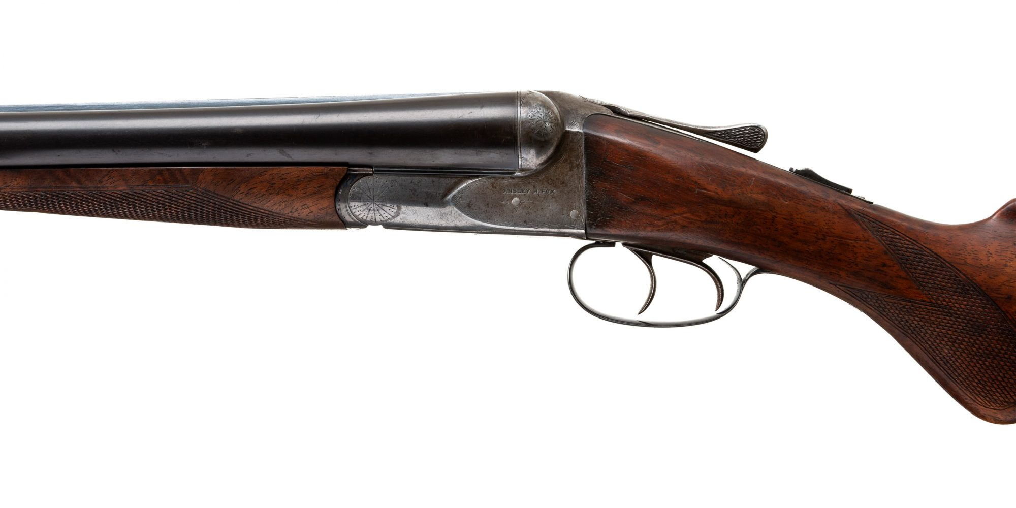 Photo of an A.H. Fox A Grade 12 gauge shotgun, for sale as is by Turnbull Restoration of Bloomfield, NY