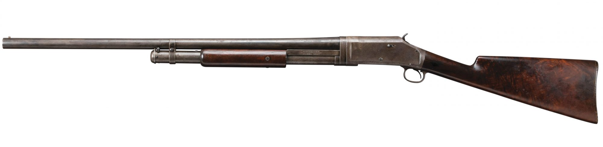 Photo of a restored Winchester Model 1897 shotgun, before restoration work by Turnbull Restoration of Bloomfield NY