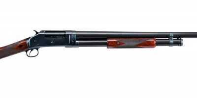 Photo of a restored Winchester Model 1897 shotgun, after restoration work by Turnbull Restoration of Bloomfield NY