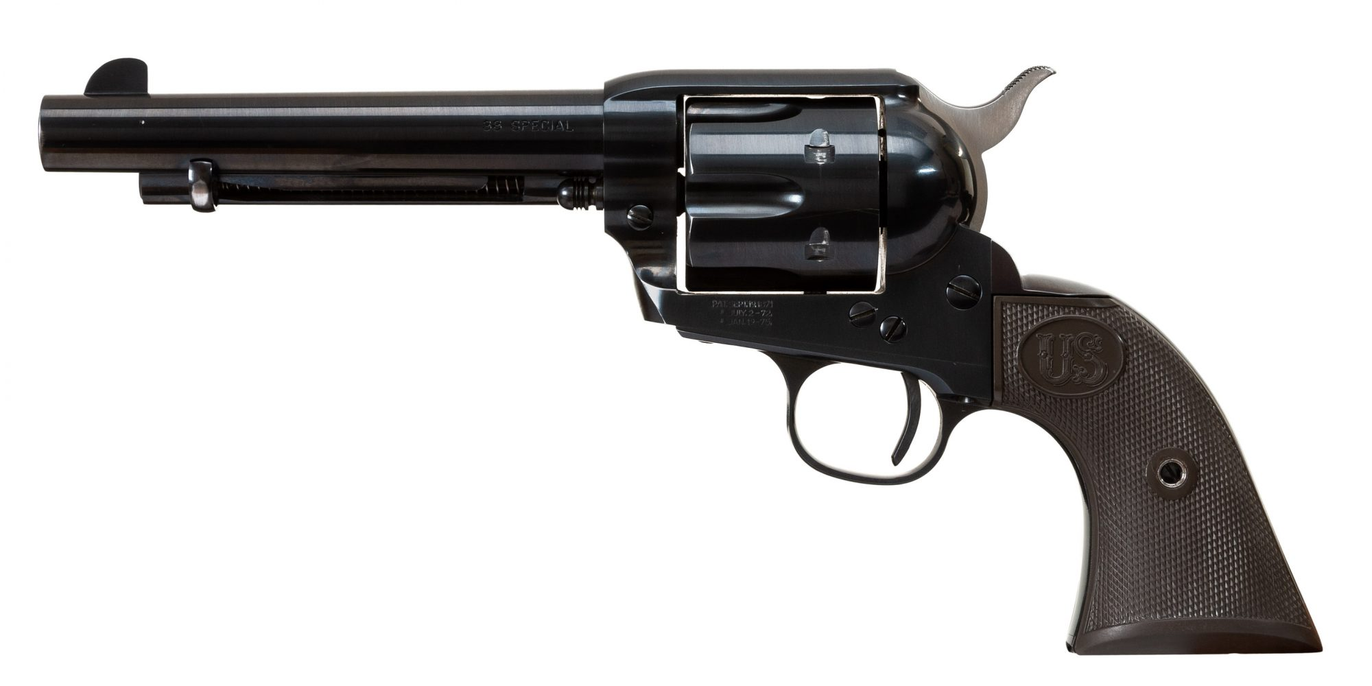 Photo of a U.S. Fire Arms (USFA) Single Action Army (SAA) Revolver featuring USFA Dome Blue finish by Turnbull Restoration of Bloomfield, NY