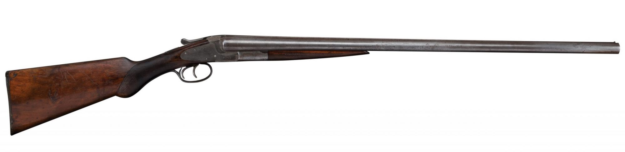Photo of a restored L.C. Smith 12 gauge shotgun, before restoration work by Turnbull Restoration of Bloomfield NY