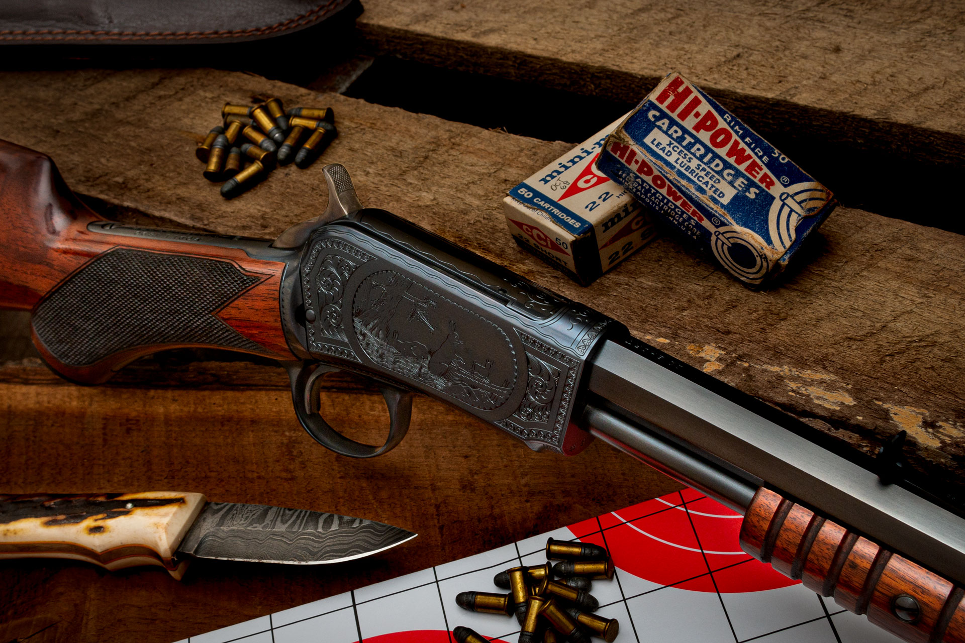 Photo of a restored Winchester Model 1890, by Turnbull Restoration of Bloomfield, NY