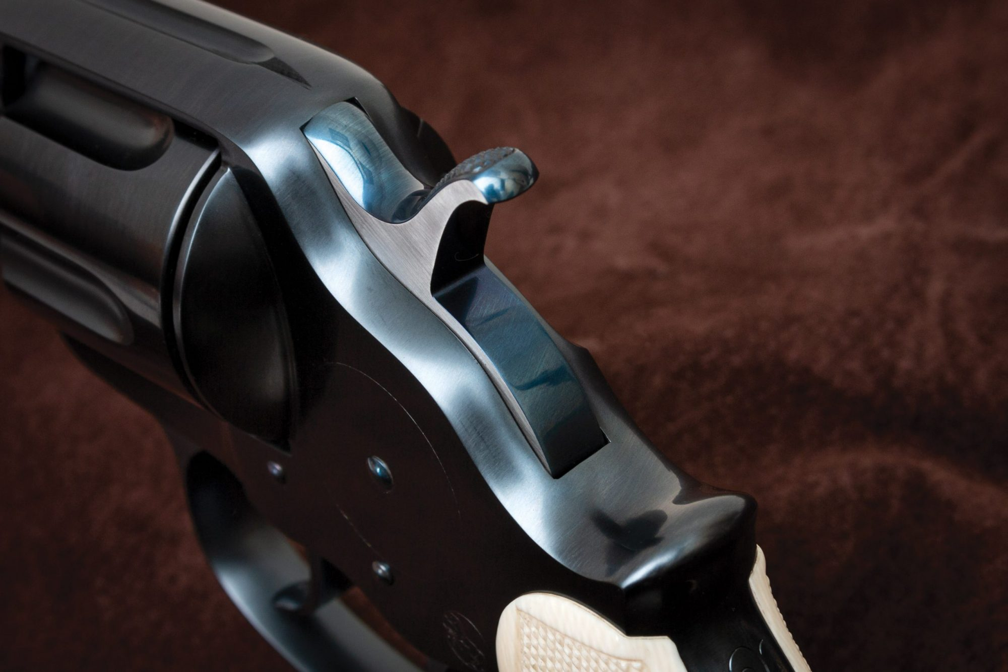 Photo of an antique Colt Model 1878 double action revolver after restoration by Turnbull Restoration of Bloomfield, NY