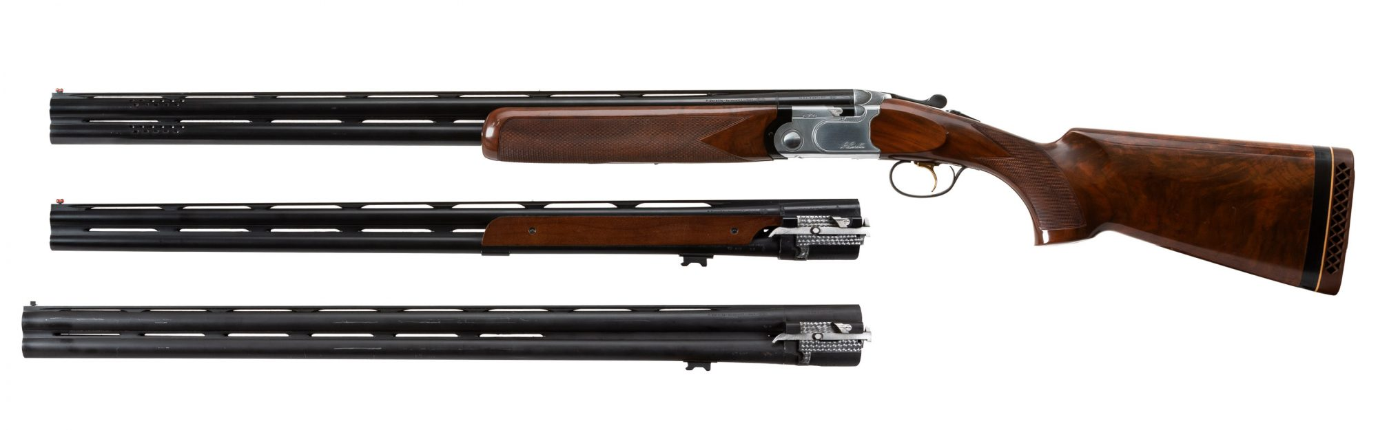 Photo of a pre-owned Beretta 682 three-barrel set with hard case, for sale by Turnbull Restoration of Bloomfield, NY