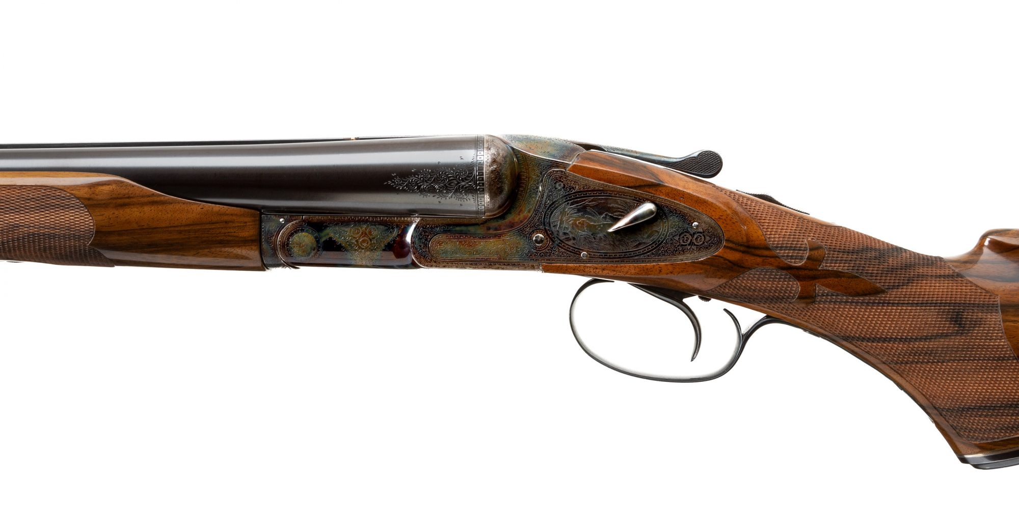Photo of a pre-owned L.C. Smith 5E 12 gauge double, for sale as-is by Turnbull Restoration of Bloomfield, NY