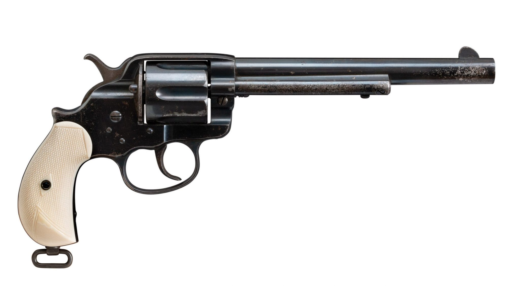 Photo of an antique Colt Model 1878 double action revolver before restoration by Turnbull Restoration of Bloomfield, NY