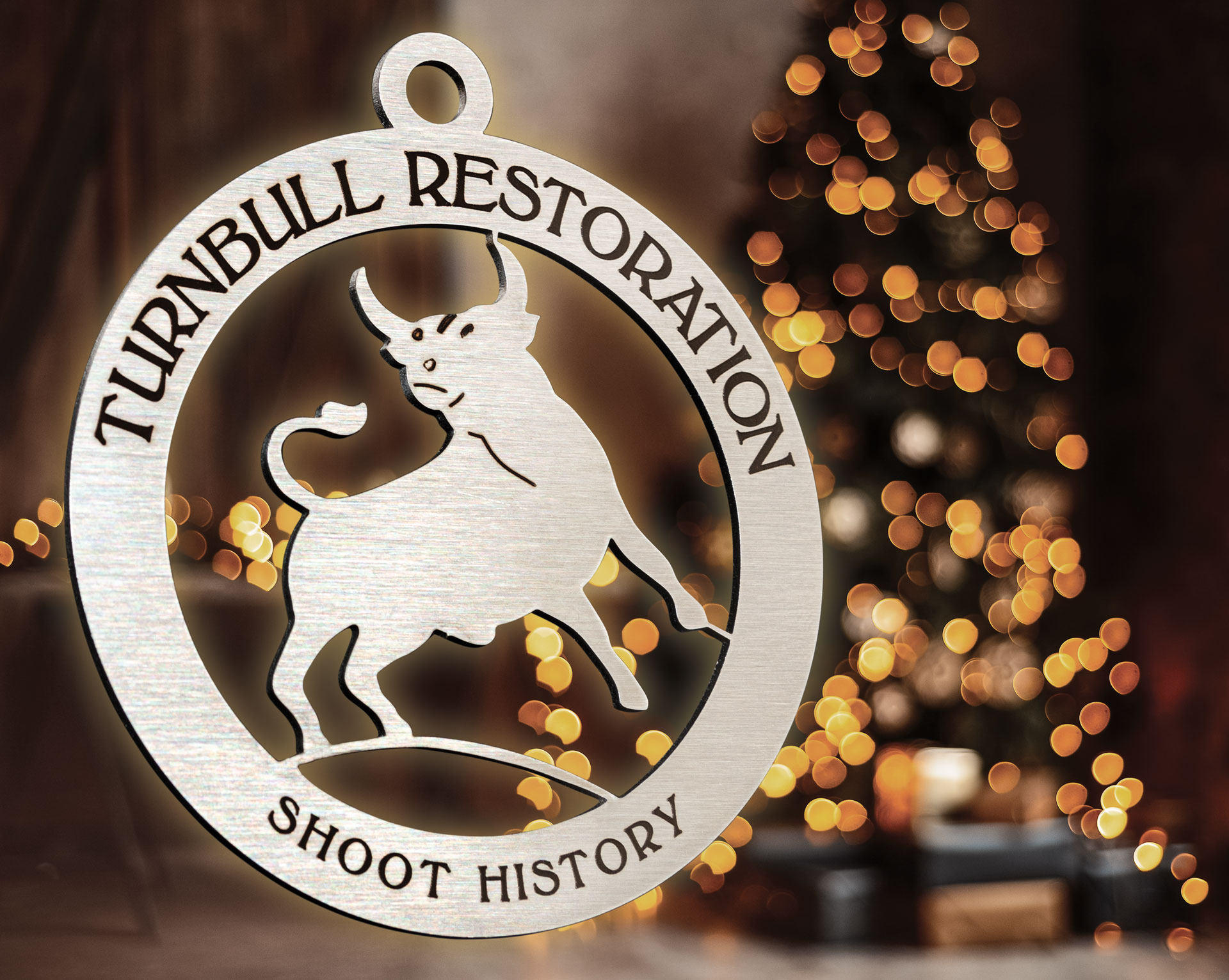 Photo of the Turnbull Restoration Shoot History ornament