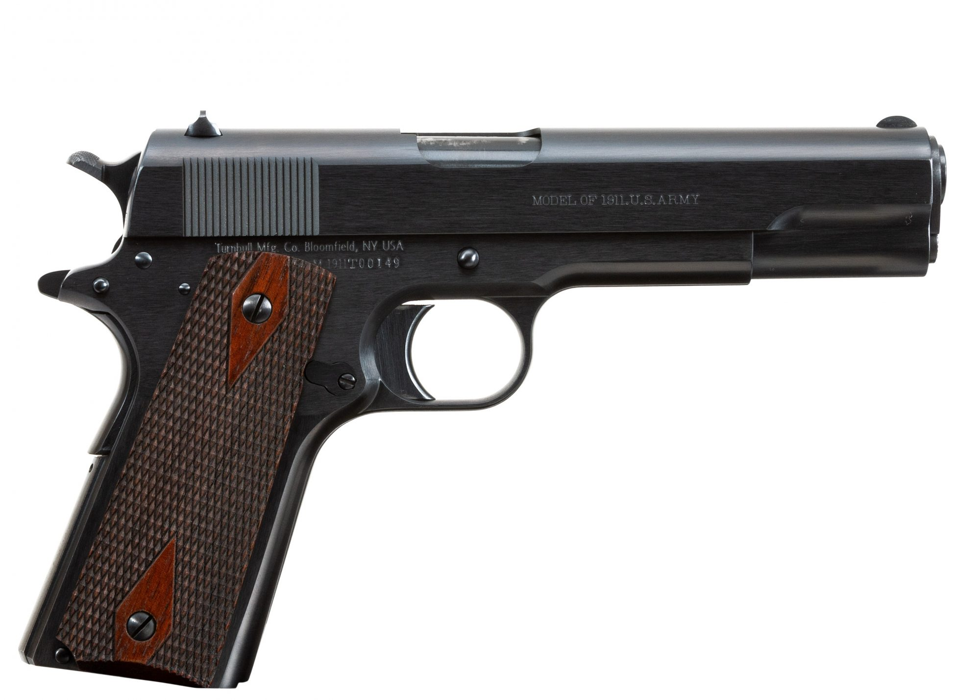 Photo of a pre-owned Turnbull Model 1911 U.S. Army with WWI-style frame, for sale by Turnbull Restoration of Bloomfield, NY