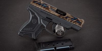 Photo of a Turnbull finished Ruger LCP II, featuring bone charcoal color case hardening by Turnbull Restoration of Bloomfield, NY