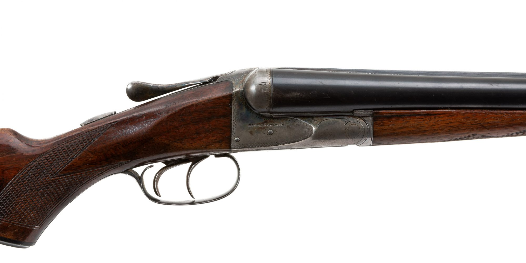 Photo of a pre-owned Fox Sterlingworth 12 gauge double gun from from circa 1943-45, for sale by Turnbull Restoration of Bloomfield, NY