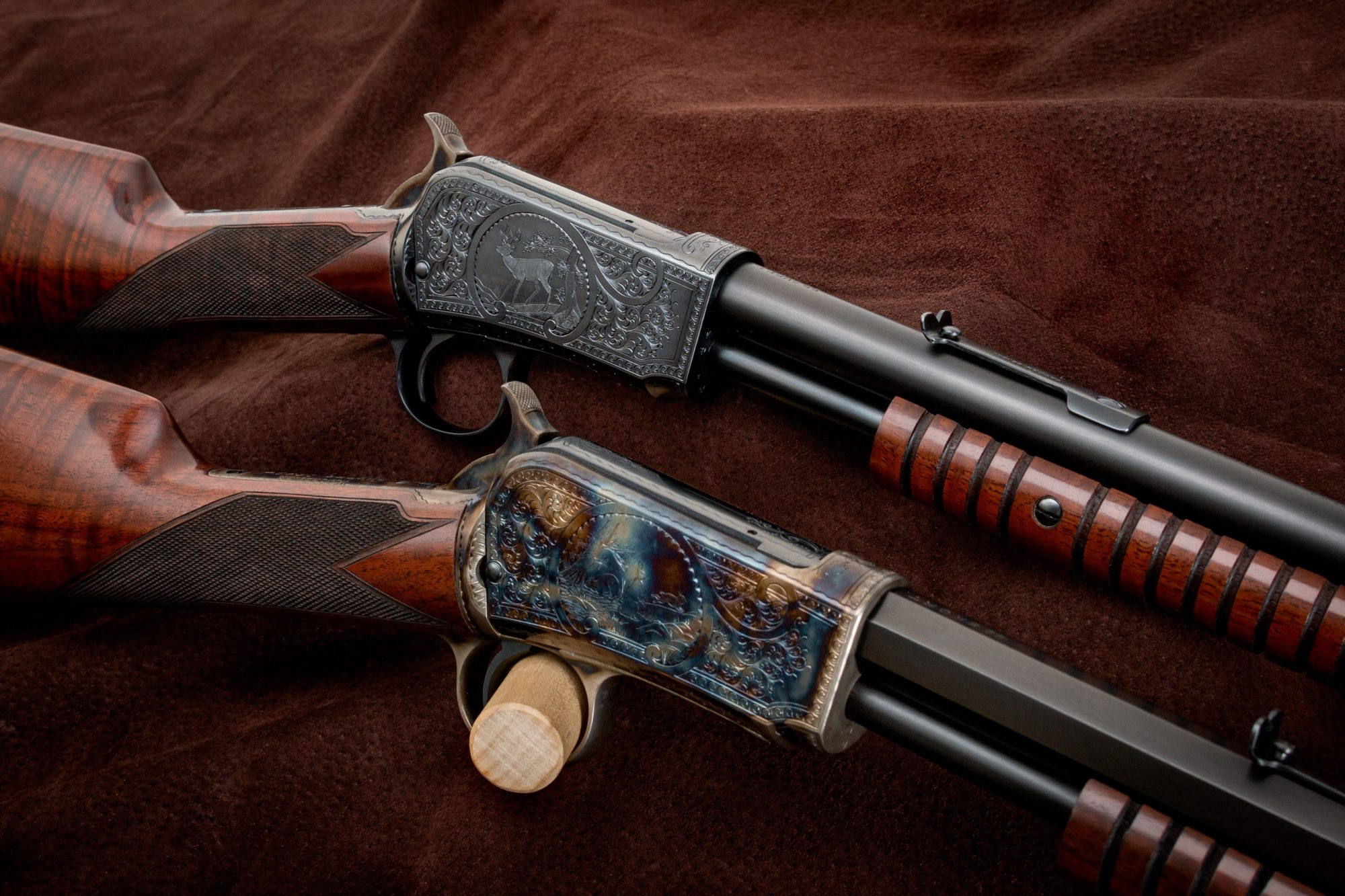Photo of restored and upgraded Winchester Model 1890 and Model 1906, by Turnbull Restoration of Bloomfield, NY
