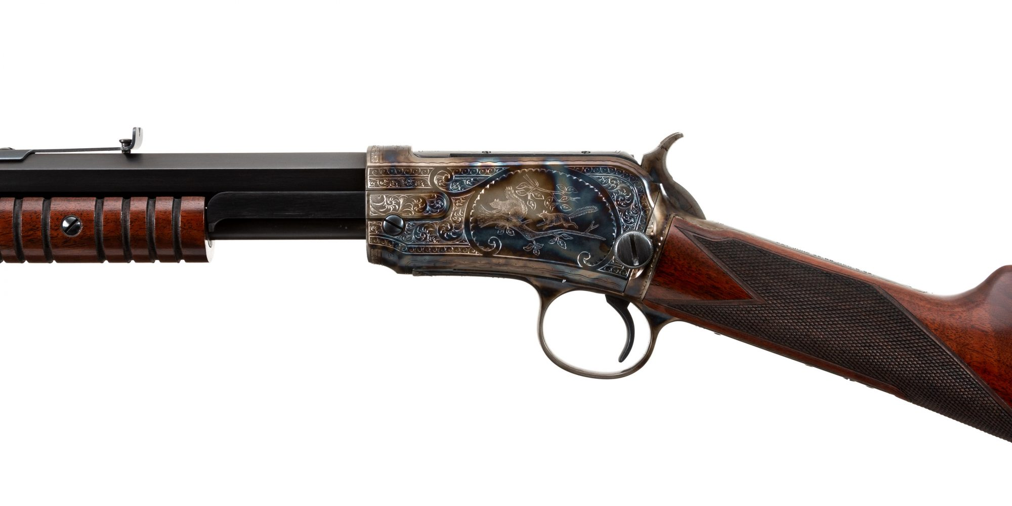 Photo of a restored and upgraded Winchester Model 1890, by Turnbull Restoration of Bloomfield, NY