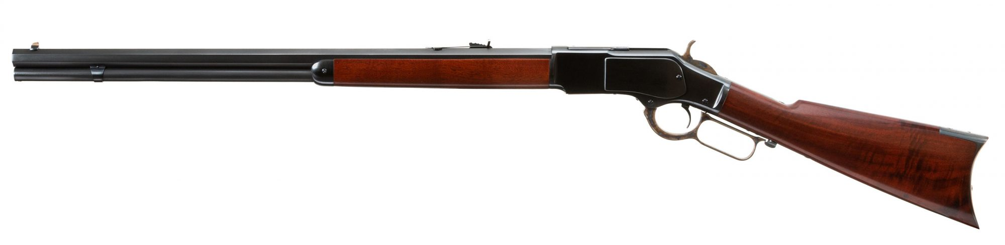 Photo of a Winchester Model 1873 from 1882, restored in 2018 and for sale by Turnbull Restoration