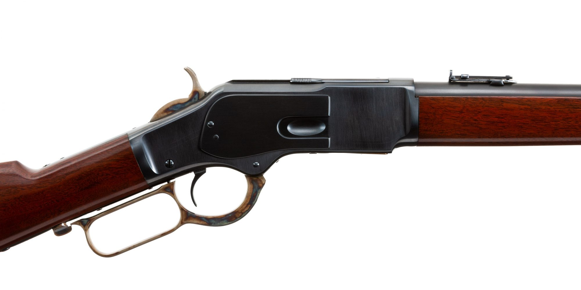 Photo of a Winchester Model 1873 from 1889, restored in 2015 and for sale by Turnbull Restoration
