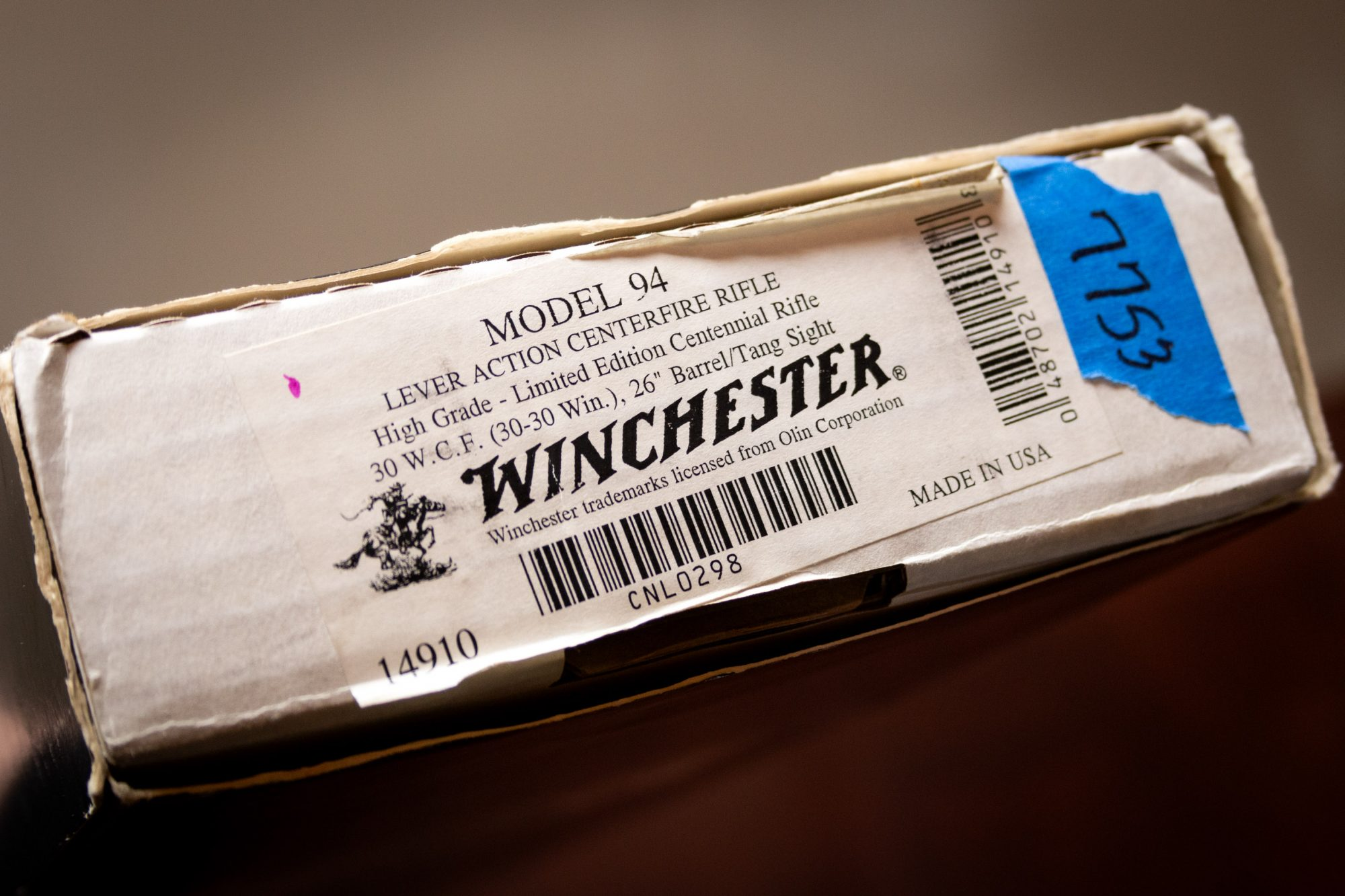 Photo of a pre-owned Winchester Model 94 Limited Edition High Grade Centennial Rifle box