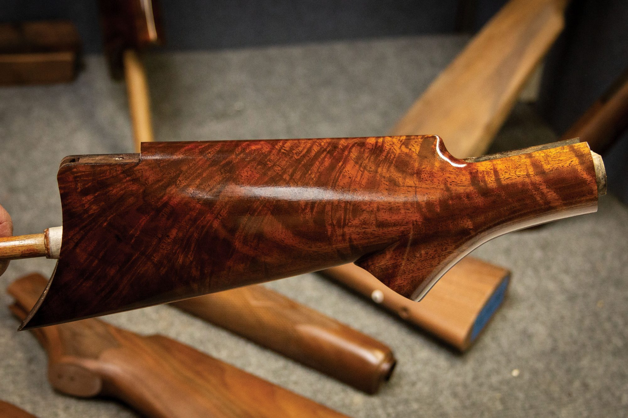 Photo of a Winchester 1873, during restoration work by Turnbull Restoration of Bloomfield, NY