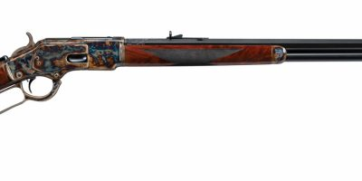 Photo of a restored and upgraded Winchester 1873, after restoration work by Turnbull Restoration of Bloomfield, NY
