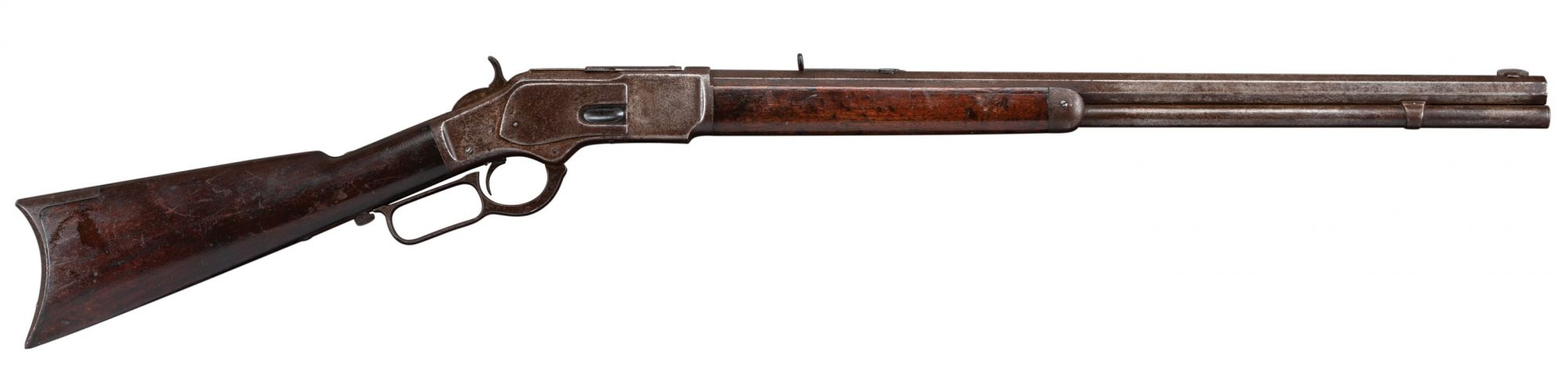 Photo of a Winchester 1873, before restoration work by Turnbull Restoration of Bloomfield, NY