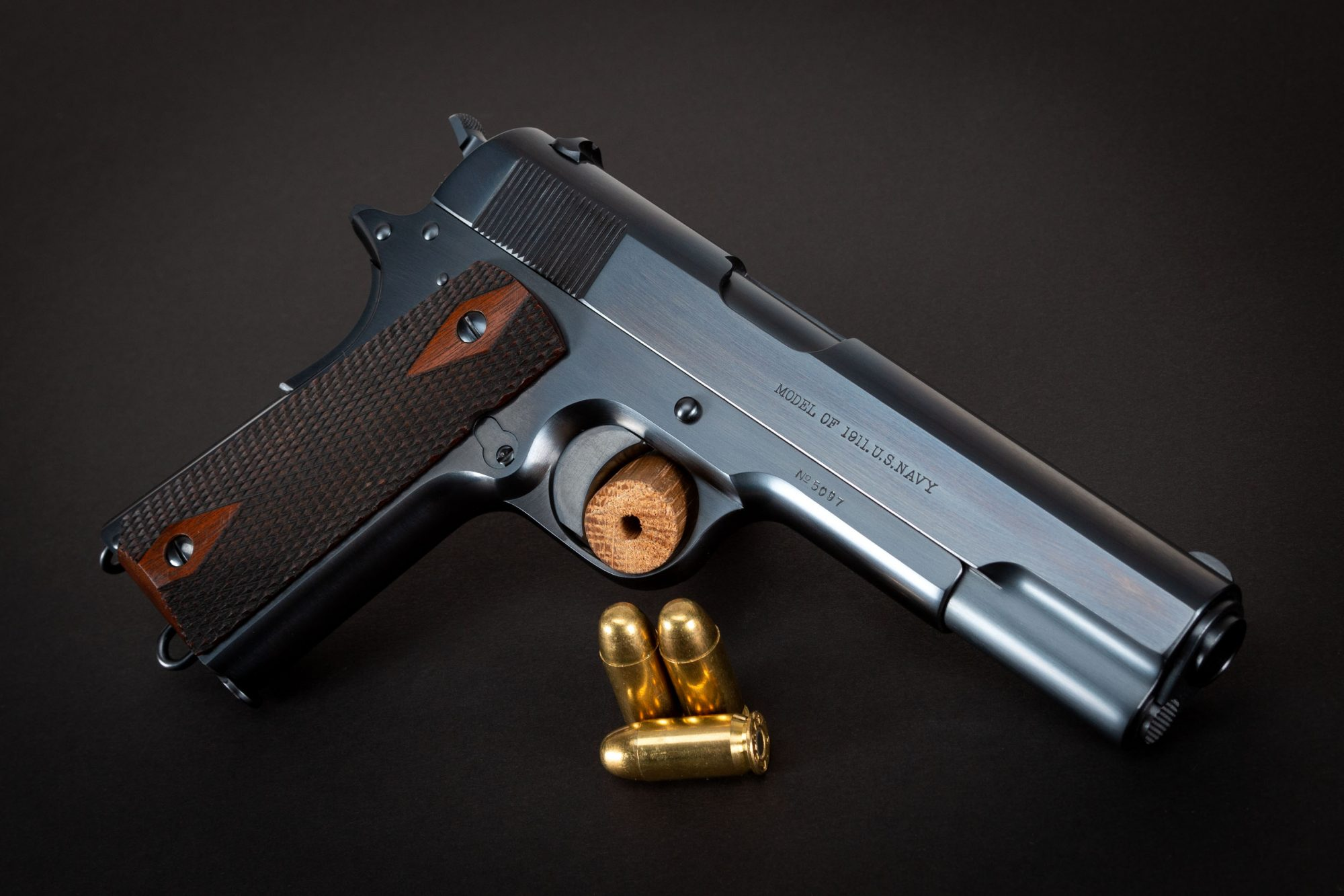 Photo of a restored Colt 1911 Navy from 1912, by Turnbull Restoration of Bloomfield, NY