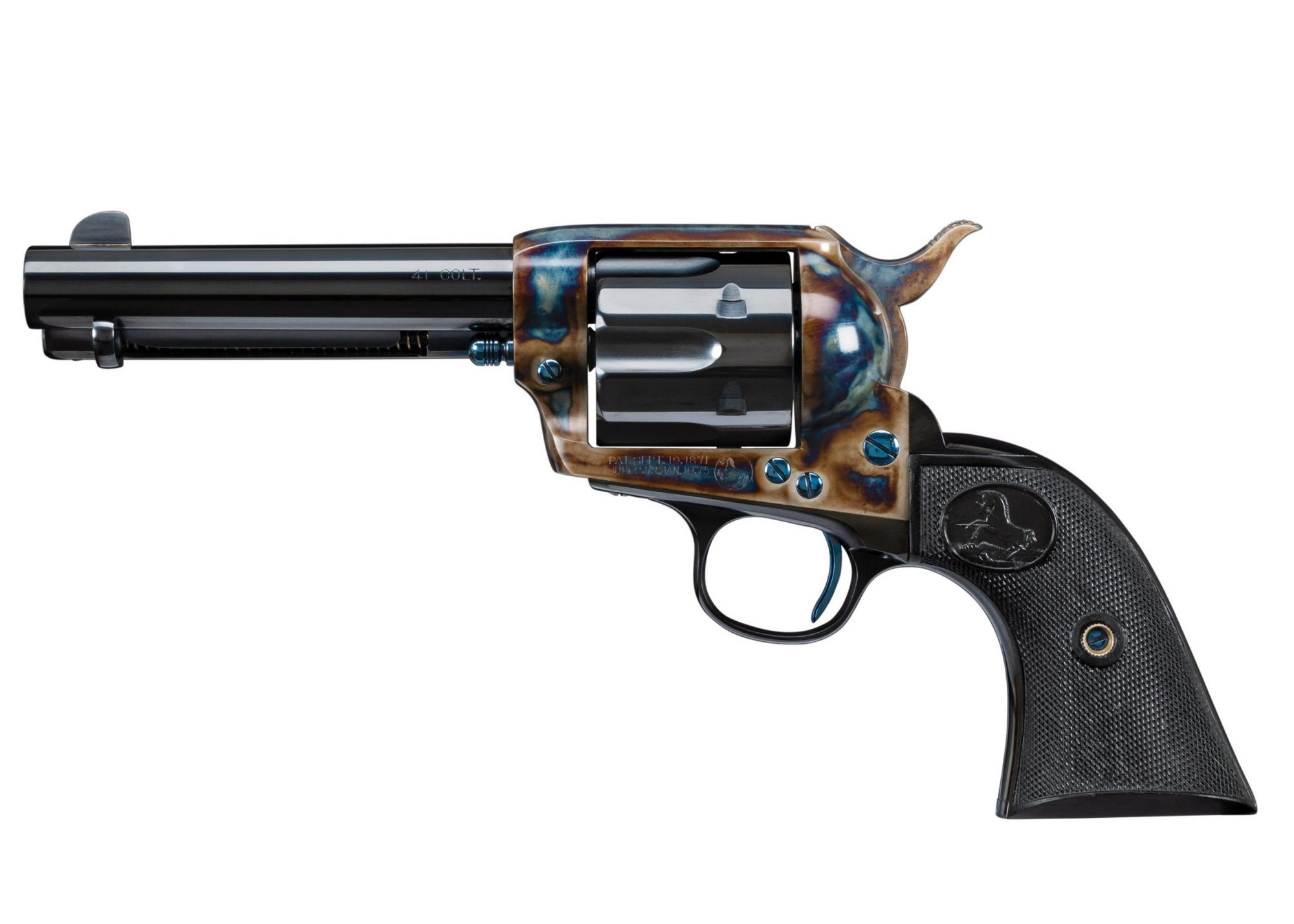 Photo of a restored Colt Single Action Army revolver from 1876, restored by Turnbull Restoration Co. of Bloomfield, NY