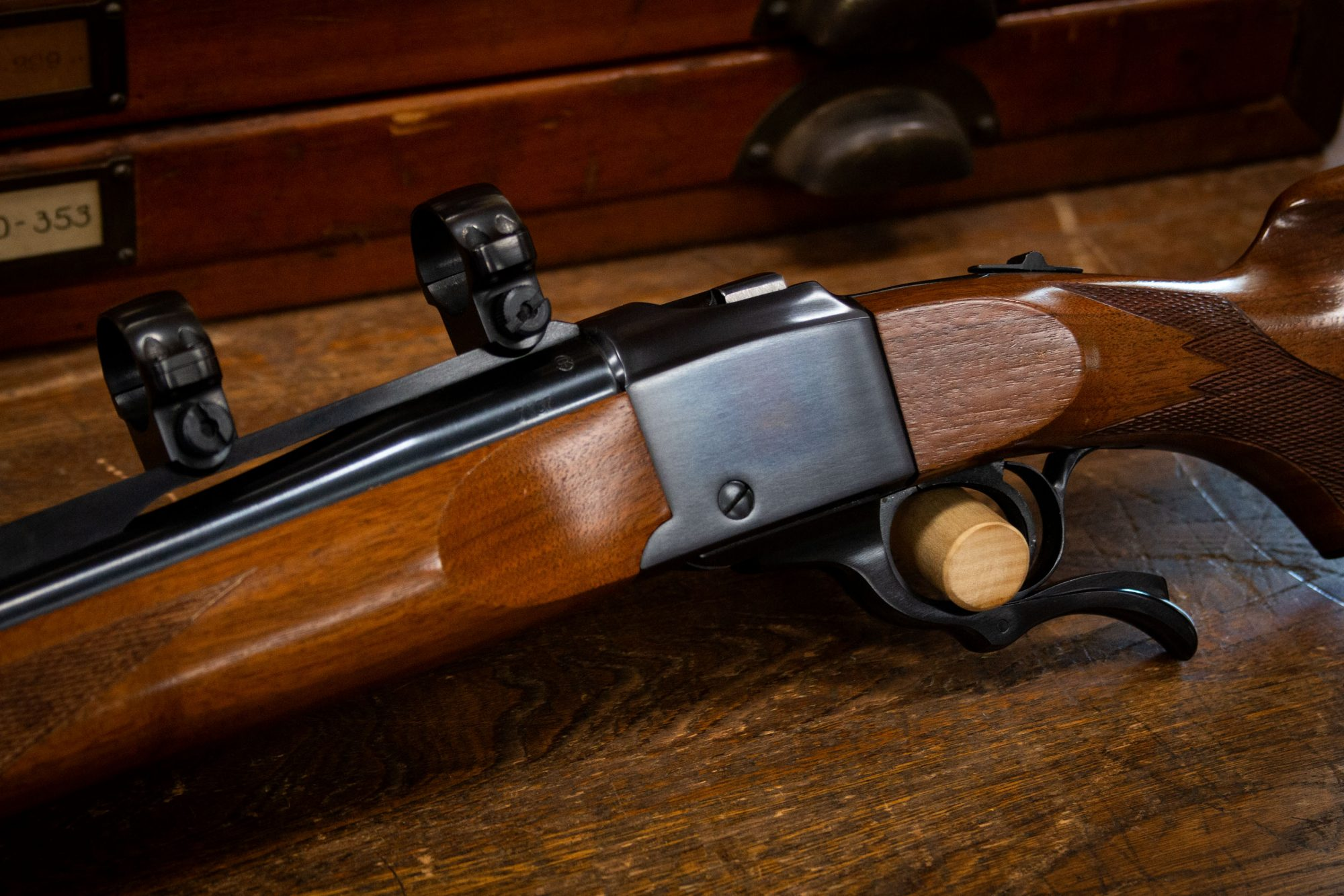 Photo of a pre-owned Ruger No. 1 single shot rifle, for sale by Turnbull Restoration on Bloomfield, NY